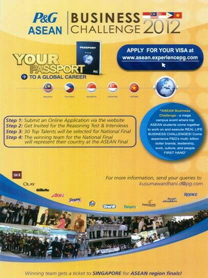 An invitation to join roadshow pg asean business challenge 2012 thank you stopboris Image collections